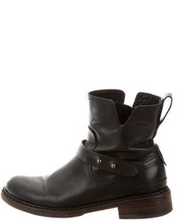 Rag & Bone Black Leather Ankle Boots