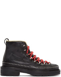 Rag & Bone Black Leather Compass Lace Up Boots