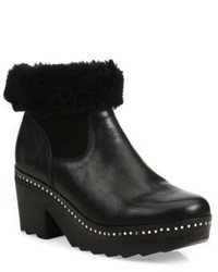 Rag & Bone Nelson Leather Shearling Clog Booties