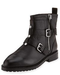 Rebecca Minkoff Griffin Buckle Leather Bootie Black