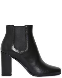 Saint Laurent 90mm Babies Leather Ankle Boots