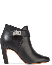 Givenchy Shark Lock Leather Ankle Boots Black