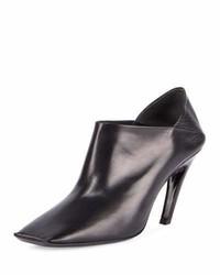 Balenciaga Square Toe Leather Bootie Noir