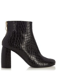 Stella McCartney Block Heel Faux Leather Ankle Boots
