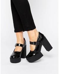 T.U.K. Yuni Mary Jane Brogue Platform Shoes