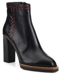 Tod's Whipstitched Leather Booties