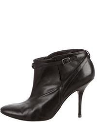 Balenciaga Leather Round Toe Booties