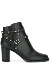 Valentino Garavani Rockstud Noir Ankle Boots