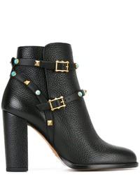 Valentino Garavani Rockstud Rolling Ankle Boots