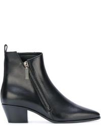 Saint Laurent Zip Detail Ankle Boots