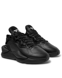 Black Leather Athletic Shoes