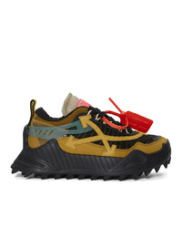 Off-White Black And Tan Odsy 1000 Sneakers