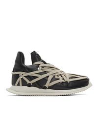 Rick Owens Black Megalace Runner Sneakers