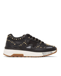Versace Black Studded Low Sneakers