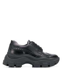 Prada Brogue Effect Low Top Sneakers