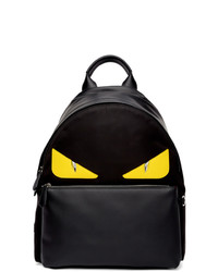 Fendi Black And Yellow Bag Bugs Backpack