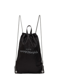 Maison Margiela Black Drawstring Backpack