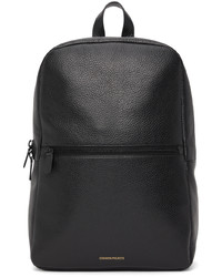 Common Projects Black Ed Leather Simple Backpack
