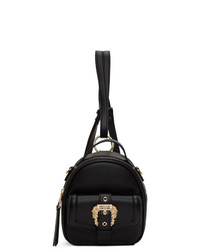 Versace Jeans Couture Black Faux Leather Backpack