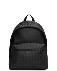 Bottega Veneta Black Intrecciato Medium Backpack