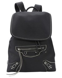 Balenciaga Black Leather Classic Traveller S Backpack