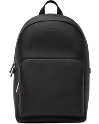 BOSS Black Leather Crosstown Backpack