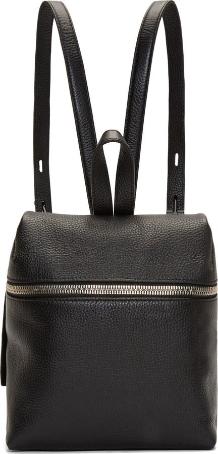 31ceca5efe ... Kara Black Pebbled Leather Small Backpack ...