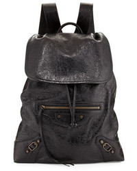 Balenciaga Classic Traveler Small Leather Backpack
