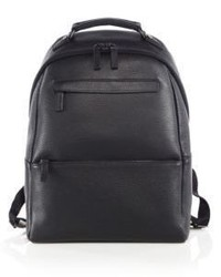 Saks Fifth Avenue Collection Oblique Zip Leather Backpack