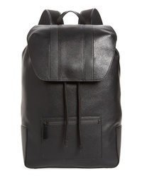 Calvin Klein Drawstring Faux Leather Backpack