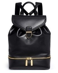 Alexander McQueen Drawstring Top Flap Leather Backpack