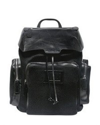 DSquared Techno Net And Leather Backpack