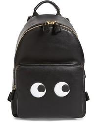 Anya Hindmarch Eyes Mini Leather Backpack Black