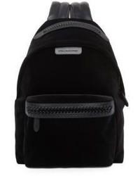 Stella McCartney Falabella Medium Velvet Faux Leather Backpack