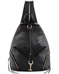 Rebecca Minkoff Julian Large Leather Backpack Black