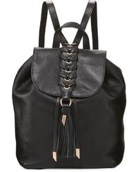 Foley + Corinna La Trenza Leather Backpack Black