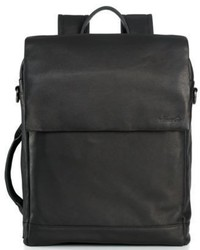 Kenneth Cole New York Leather Convertible Laptop Backpack