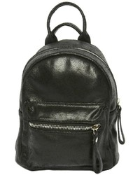 Leather Country Black Mini Backpack