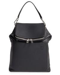 Loewe Goya Calfskin Leather Backpack Black