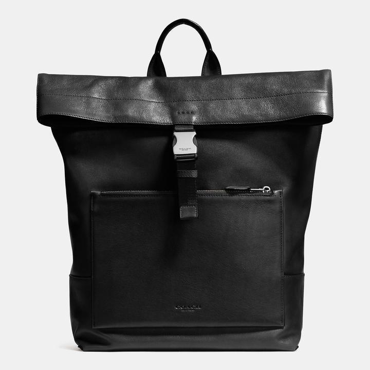 ... Coach Manhattan Foldover Backpack In Sport Calf Leather ... 331798e88941d