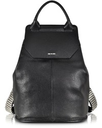 McQ by Alexander McQueen Mcq Alexander Mcqueen Razor Black Leather Backpack