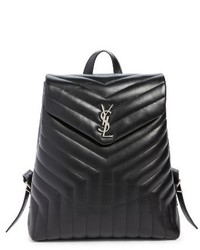Medium loulou calfskin leather backpack black medium 3992327