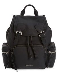 Burberry Medium Rucksack Leather Backpack Black