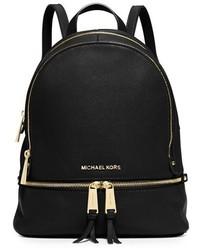 3c07a9bccc89 MICHAEL Michael Kors Michl Michl Kors Extra Small Rhea Zip Leather Backpack