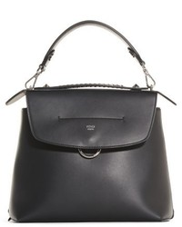 Fendi Mini Back To School Leather Backpack Black