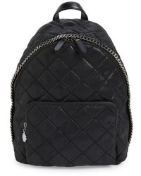 Stella McCartney Mini Falabella Faux Leather Quilted Backpack Black
