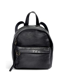 Madewell Mini Lorimer Leather Backpack Black