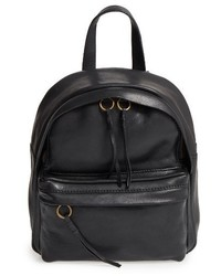Madewell Mini Lorimer Leather Backpack Burgundy