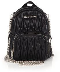 Miu Miu Mini Matelasse Leather Crossbody Backpack,  1,045   Saks ... e93ec333c3