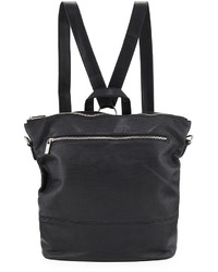 Neiman Marcus Perforated Square Backpack Black